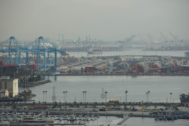 The Los Angeles and Long Beach ports