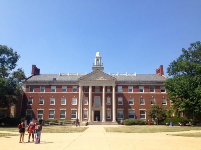 My new professional home - Frederick Douglass Memorial Hall.